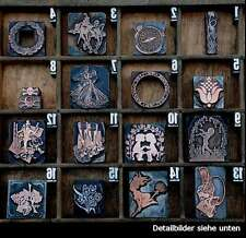 Druckstock Jugendstil Ornament Stempel Zierelement Druckplatte Galvano Klischee