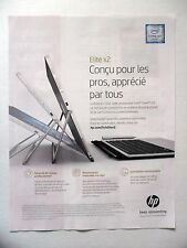 PUBLICITE-ADVERTISING :  HEWLETT PACKARD Elite x2  2016 Informatique