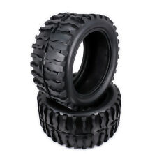 2pcs Water Patten Tire For RC Car 1/10 Monster Truck Big Foot Truggy Rubber