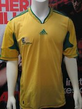 Adidas S. Africa 2010-2012 National Team Soccer Home Jersey-Yellow-Adult Medium