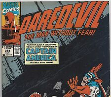 Daredevil #283 with Captain America from Aug 1990 in Fine+ Condition News Stand