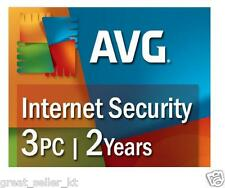 AVG Internet Security 2016 3 PC's 3 Devices 2 Years DOWNLOAD NO CD worldwide