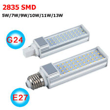 5W 7W 9W 10W 12W 13W E27 G24 2835 SMD LED Horizontal Plug Corn Light Bulb Lamp