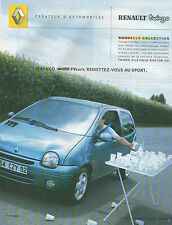 Publicité Advertising 2002  RENAULT TWINGO Tech' Run