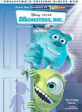 MONSTERS INC + SHREK 2 + NEVERLAND + BEAUTY AND THE BEAST  4DVD SET!!  FREE SHIP