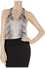 HELMUT LANG GREY GRADIENT TWISTED TANK TEE TSHIRT SMALL