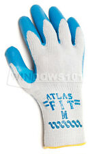 1 Pair Atlas Fit 300 Rubber Coated Work Gloves (MEDIUM) Industrial Heavy Duty