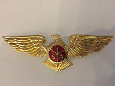 TRANSAIR AIRLINES of Sweden PILOT CAPTAIN UNIFORM HAT WING BADGE  1960s