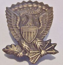 JEFFERSON DAVIS EAGLE BRASS PIN - CONFEDERATE STATES OF AMERICA - REBEL CSA