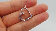 "STUNNING 14K YG DIAMOND CLUSTER HEART PENDANT W/ CHAIN 22"" LONG .50 CT G100062-4"