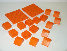 NEW Lego® Minecraft Orange LAVA 6x6 plate 2x2 block 45 slope mine cave crafting