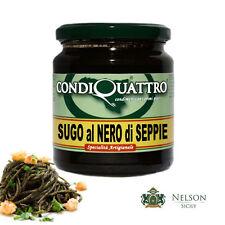 Sugo al Nero di Seppie - specialità artigianale siciliana, Condiquattro