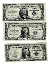 1 LOT OF 3  $1.00 1935   D,E,F NOTES FOR 1 BID XF, CRISP CALLED MULE NOTES