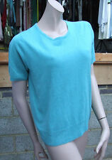 M&S Classics Magnificent Seafoam Aqua-Marine Knit Green Jumper Top UK Size 12