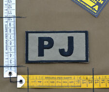 """Ricamata / Embroidered Patch """"PJ"""" Coyote Tan with VELCRO® brand hook"""