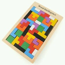 Wooden Tangram Brain Teaser Puzzle Game Educational Baby Child Kid Toy