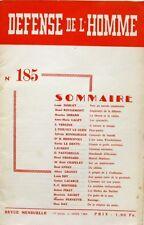 Défense de l'Homme n°185 - 1964 - L'Art selon Winckelmann - Marcel Martinet