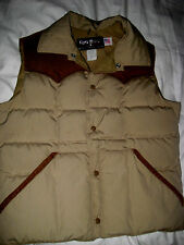 VINTAGE 70's 80's USA TEMPCO GOOSE  DOWN INSULATED JACKET VEST CORD YOKED-M S