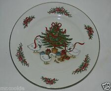 Country Christmas Collection Jay Porcelain Dinner Plate Tree Geese Bear Ribbon