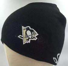 NEW Pittsburgh Penguins Labatt Knit Hat Cap Beanie Pom Pom Winter Hat Black
