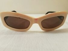 Rare vintage WOMENS  CHANEL  Mod Beige & Black Quilted Sunglasses C536/93, Italy