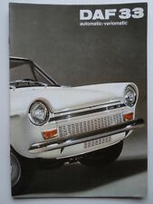 DAF 33 Saloons orig 1970 UK Market sales brochure