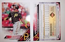 (2) PITTSBURGH PIRATES Andrew McCutchen JUMBO 5x7 TOPPS TRADING CARD - SGA *NEW*