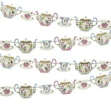 TRULY ALICE in Wonderland Tea/Birthday/Wedding Party TEAPOT BUNTING