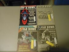 LOT OF 4 JANUARY 1992 CYCLE NEWS MOTORCYCLE NEWSPAPERS,HONDA NR750 STORY,AMA