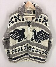 Vintage COWICHAN WOOL Sweater THUNDERBIRD EAGLES~Hand Knit~Big Lebowski