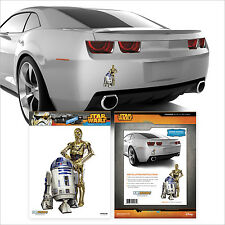 "STAR WARS ""R2D2-C3PO"" DECAL Car Auto Truck Darth Disney Jedi Vinyl Sticker"