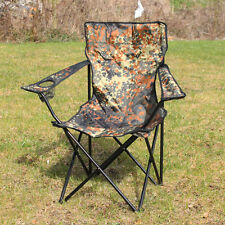 OUTDOOR CAMPING CHAIR - FLECKTARN CAMO - Folding Portable Fishing Beach Seat