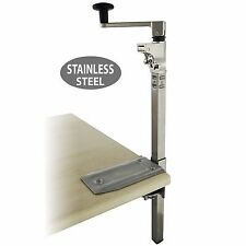 "BOJ Commercial Grade Can Opener Heavy Duty Table Mount 19"" (Stainless Steel)"