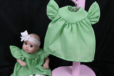 """GOING OUT OF BUSINESS SALE----DRESS FOR 5-1/2""""--6"""" OOAK DOLL GREEN"""