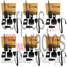 6 NEW ICOM F3001 VHF RADIOS 5W 16CH HIGH POWER LONG RANGE SECURITY CONSTRUCTION