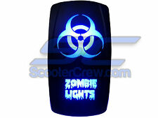 UTV Rocker Switch Blue Led On Off Zombie Light Toggle Square 5 prong Dune Sand