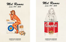 Mel ramos, 2x d'origine exposition affiches - 2015-tobacco red & suzy soup NEUF