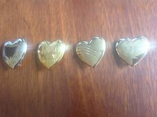 VARIETY CLUB Gold Plated Metal Heart Badges / Broaches X 4, Collectables