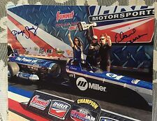 Elaine Larsen & Paige Sanchez Signed IHRA 8 X 10 Photo Jet Drag Racing