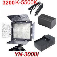 YONGNUO YN-300 III LED Video Light 3200K-5500K for Canon Nikon + NP-F750 Battery