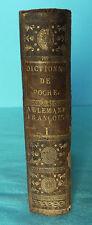 dictionnaire de poche allemand - français par Théophile Frédéric EHRMANN 1796