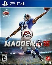 MADDEN NFL 16  PS 4 BRAND NEW AND FACTORY SEALED!