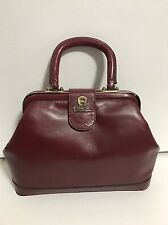 Vintage Cordovan ETIENNE AIGNER Hard Leather Doctor Bag Handbag Purse