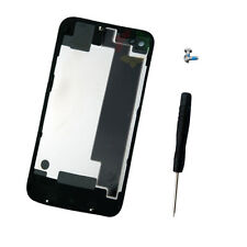 New Black Battery Cover Back Door Rear Glass For iPhone 4S A1387 + Tools