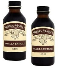 Pure Vanilla Extract Nielsen - Massey 2x 60ml small Baking Chef Cook Cupcakes