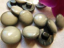 Lot 16 boutons  vintage gris chiné sur pied diamètre: 1,4 cm R 1225