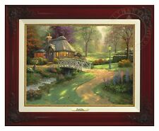 Thomas Kinkade - Friendship Cottage – Canvas Classic (Brandy Frame)