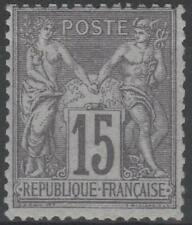 """FRANCE STAMP TIMBRE N° 77 """" TYPE SAGE 15c GRIS TYPE II """" NEUF xx RARE A VOIR"""