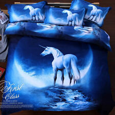King Size  Galaxy Duvet Cover Bedding Set   Unicorn Moon Cosmos LIMITED