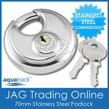 STAINLESS STEEL ROUND DISC SECURITY PADLOCK -Trailer/Hitch/Caravan/4x4/Boat Lock